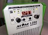 Полуавтомат инверторный АТОМ I-250 MIG/MAG 220V с горелкой и комплектом сварочных кабелей (вариант X), фото 4