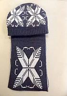 Комплект шапка и шарф серый Dolce & Gabbana