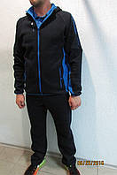 Мужской спортивный костюм Reebok 86552-2 темно синий с голубым код 331б