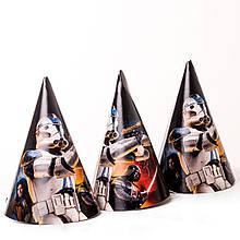 Колпачки детские карнавальные звездные войны 10 шт