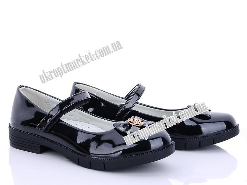 "Туфли детские D9 black (6 пар р.32-37) ""Clibee"" GB-1239"