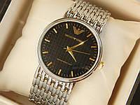 Мужские (Женские) кварцевые наручные часы Emporio Armani на металлическом ремешке