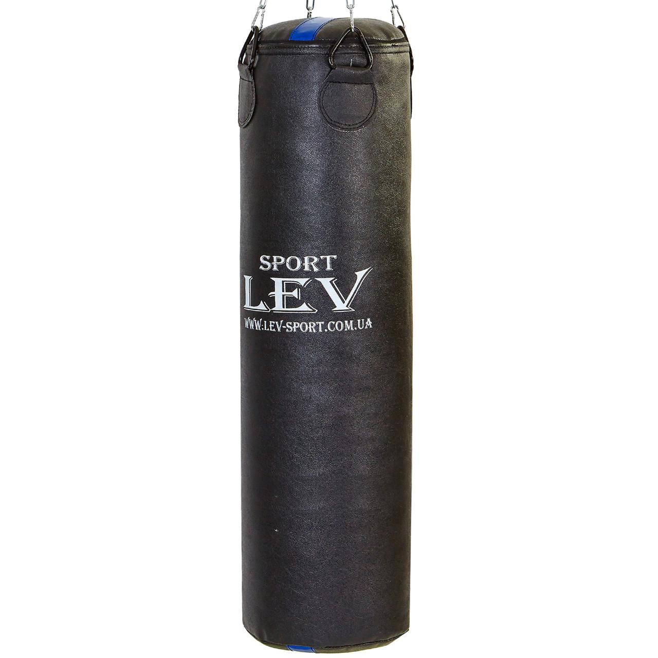 Мішок боксерський Циліндр Кирза h-120см LEV UR LV-2810 (наповнить.-ганчір'я, d-33см,вага-50 кг, чорний)