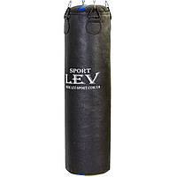 Мішок боксерський Циліндр Кирза h-120см LEV UR LV-2810 (наповнить.-ганчір'я, d-33см,вага-50 кг, чорний), фото 1