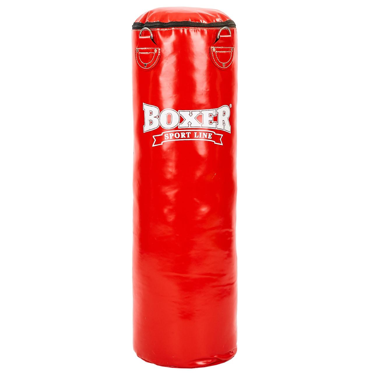 Мішок боксерський Циліндр ПВХ h-100см BOXER Класик 1003-03 (наповнювач-дрантя х-б, d-33см, вага-26кг, кольори