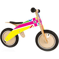 "Беговел 12"" Kiddi Moto Kurve деревянный британский флаг в цветах SKD-09-55"