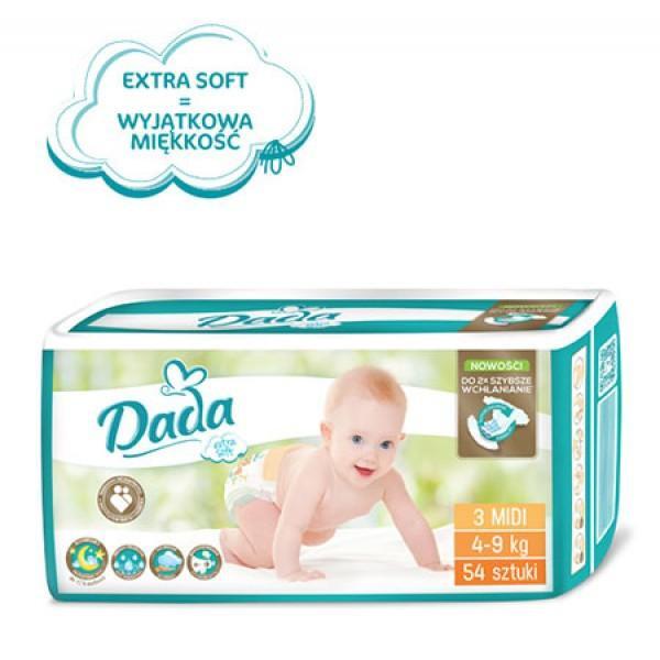 Памперсы Дада Dada extra soft 3 ( 4 - 9 кг) 54 шт