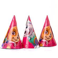 Колпачки детские праздничные щенячий патруль розовый