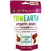 YumEarth, Органические леденцы с витаминомC, 14леденцов, 85г