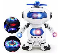 Танцующий светящийся интерактивный робот танцор Dancing Robot детская игрушка 99444-2 (серый)