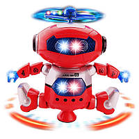 Танцующий светящийся интерактивный робот танцор Dancing Robot детская игрушка 99444-3 (красный)