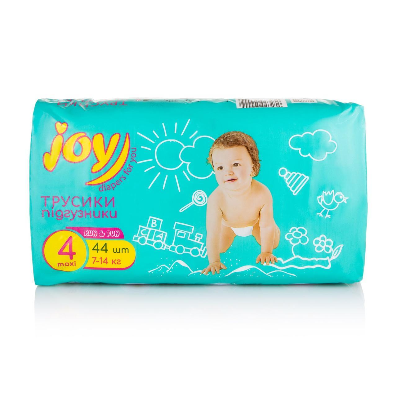 Подгузники-трусики Joy Run and Fun размер 4, 7-14 кг, 44 шт