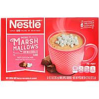 Nestle Hot Cocoa Mix, Кусочки зефира, смесь для приготовления горячего какао, со вкусом насыщенного молочного шоколада 6 пакетиков, вес каждого 20,2 г