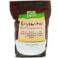 Now Foods, Эритритол, натуральний підсолоджувач, з пшениці, Замінник Цукру 1134 р