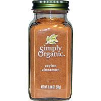 Simply Organic, Органическая цейлонская корица, 2,08 унций (59 г)