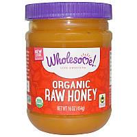 Wholesome , Органічний сирої мед, 454 г (16 унцій)