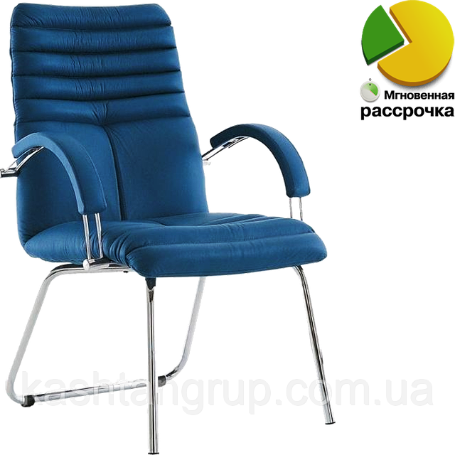Кресло GALAXY steel CFA LB chrome Екошкіра RODEO