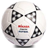 Мяч для футзала №4 ламин. MIKASA FSC62 (сшит вручную, белый)