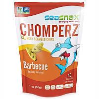 SeaSnax, Chomperz, хрусткі чіпси з морських водоростей, зі смаком барбекю, 1 унція (30 г)