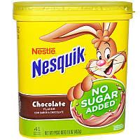 Nesquik, Nestle, со вкусом шоколада, без добавления сахара, 453 г (16 унций)