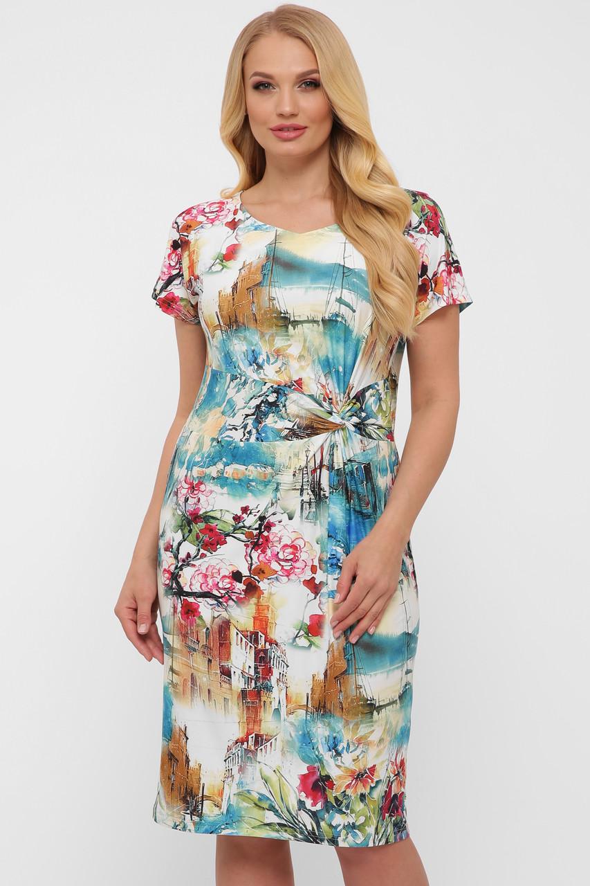 Платье женское летнее Белла абстракция