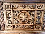 Риза на престол из дерева с тонировкой под старину, фото 2