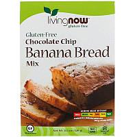 Now Foods, Шоколадно-банановый хлеб, смесь, без глютена, (320 г)