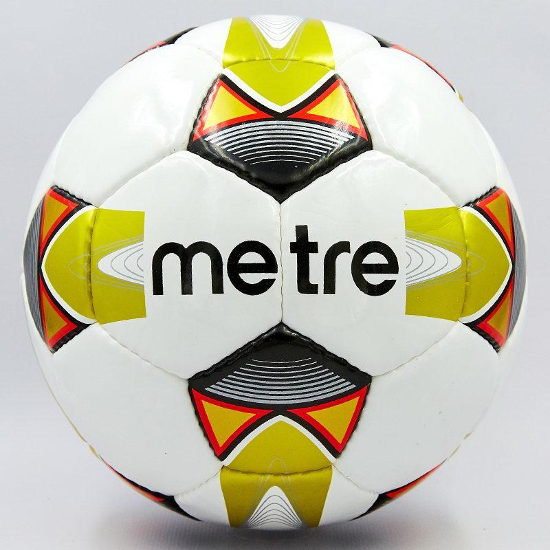 Мяч футбольный №5 PU ламин. METRE T-6045 (№5, 5 сл., сшит вручную, цвета в ассортименте)