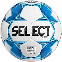 Мяч футбольный №5 SELECT FUSION IMS (FPUS 1100, белый-голубой)
