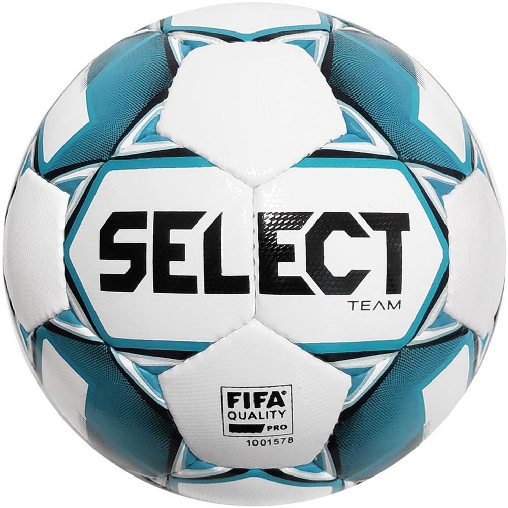 Мяч футбольный №5 SELECT TEAM IMS (FPUS 1300, белый-голубой)