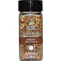 Simply Organic, Органик Правильные специи Смеси на каждый день, Перец и больше, 2,2 унции (62 г)