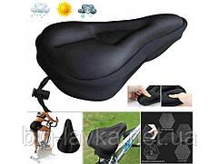 Седло с вентиляционным отверстием Biking  Черный
