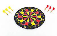 Мишень для игры в дартс из прессованной бумаги Baili 15in BL-65325 (d-38см,в комплек. 6 дротиков 8g)