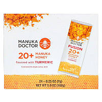 Manuka Doctor, Fusion 20+ Manuka Honey, Turmeric, 24 Sachets, 0.25 oz (7 g) Each