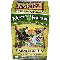 Mate Factor, Органічний Yerba Mate, свіжий зелений чай 24 чайних пакетиків, 2.96 унції (84 г)