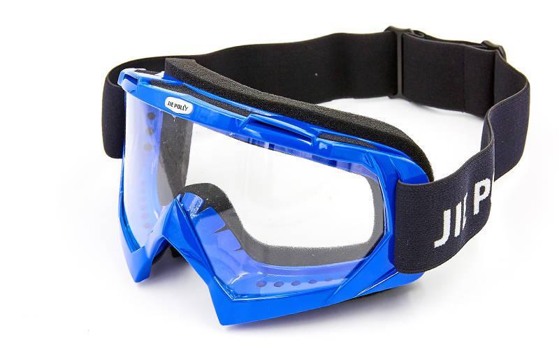 Мотоочки JIE POLLY J04-1 прозрачный визор (акрил, пластик, цвет оправы в цвета в ассортименте)