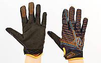 Мотоперчатки FOX BC-3906 размер M-XL черный-оранжевый