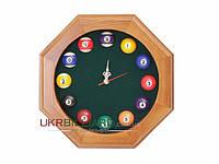 Часы бильярдные многоугольные «пул»