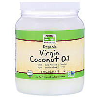 Now Foods, Real Food, органическое натуральное кокосовое масло, 1,6 л