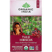 Organic India, Tulsi Tea, Hibiscus, Caffeine-Free, 18 Infusion Bags, 1.27 oz (36 g)