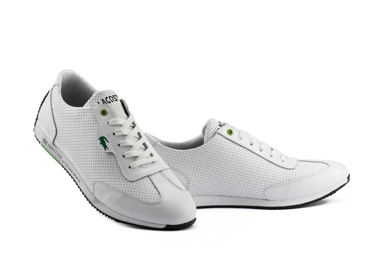 Мужские кроссовки кожаные летние белые Anser Lerond White