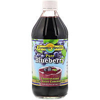 Dynamic Health Laboratories, Pure Blueberry, 100% Juice Concentrate, Unsweetened, 16 fl oz (473 ml)