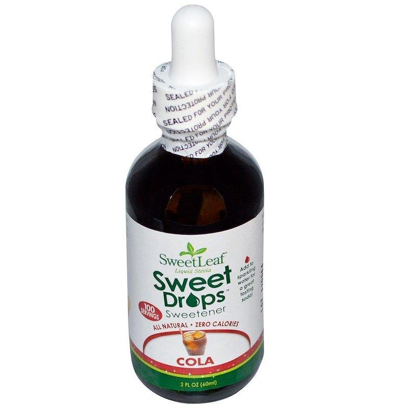 Wisdom Natural, Жидкая стевия SweetLeaf, подсластитель, кола, 2 жидких унции (60 мл)