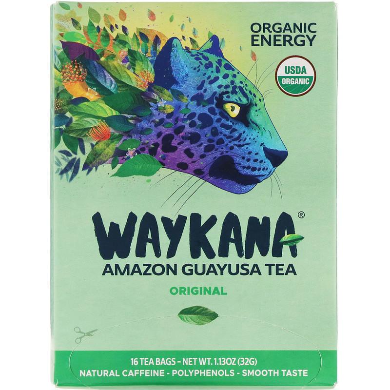 Waykana, Чай з амазонської гуайюсы, з оригінальним смаком, 16 пакетиків, 32 г