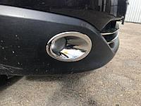 Накладки на противотуманки для тюнинга с углублением Nissan Qashqai 2010-2020
