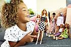 Кукла Барби Модница блондинка в черно-белом платье Barbie Fashionistas, фото 4