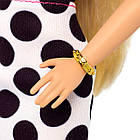 Кукла Барби Модница блондинка в черно-белом платье Barbie Fashionistas, фото 6