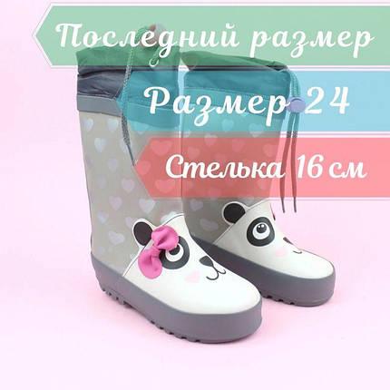 Резиновые детские сапоги девочке Панда тм Bi&Ki размер 24, фото 2