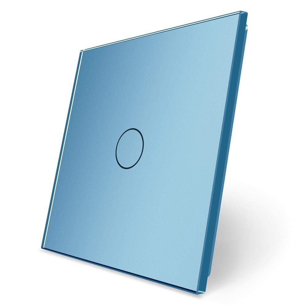 Сенсорная панель выключателя Livolo (1) голубой стекло (VL-C7-C1-19)