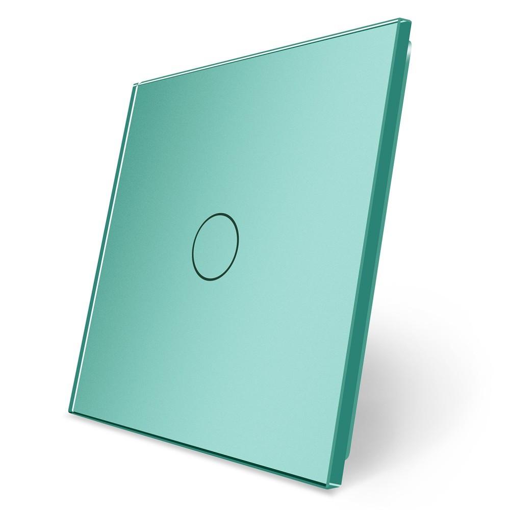 Сенсорная панель выключателя Livolo (1) зеленый стекло (VL-C7-C1-18)